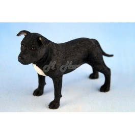 Staffordshire Bull Terrier Black and White figurine