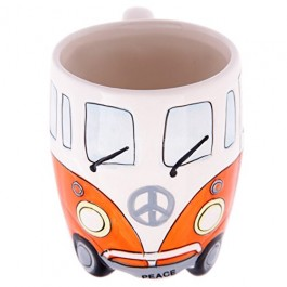 Camper Van Boxed Mugs, Orange B14