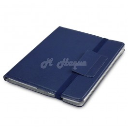 Apple iPad 2/3/4 Novo Faux Leather Folio Case with Stand Function By Qubits - Dark Blue (117-082-051)