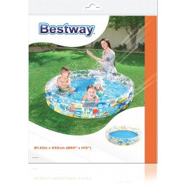 "Children's Inflatable 60"" 3 Ring Ocean Life Swimming Paddling Pool"