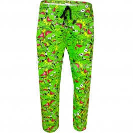 "Men's Official Disney The Muppets ""Kermit"" Character Lounge Trouser Pants B16, 25-s"