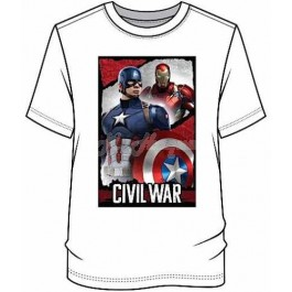 "Men's Official Marvel Comics ""Captain America Civil War"" Character T Shirt-l"