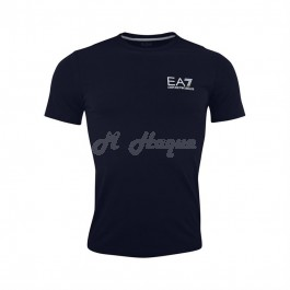 Armani Men's EA7 Logo crew neck, short sleeve T-Shirt, Navy blue-xl
