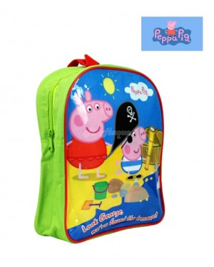 PEPPA001250 Official Peppa & George Pig Character Junior School Backpack B2 - Brand new
