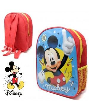 "E29-Official Disney ""Mickey Mouse"" Character Junior School Backpack B2 - Brand new."