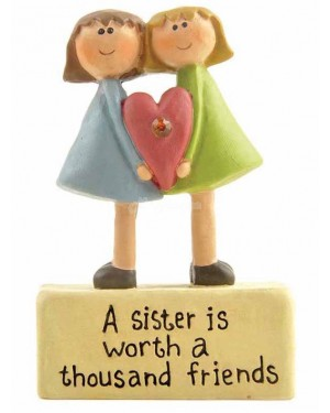 A Sister is Worth...Ornament decor figurine B-6,19