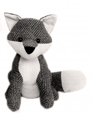 Fox Door stop figurine-grey
