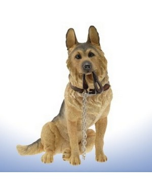 German Shepherd Sitting Walkies figurine B13