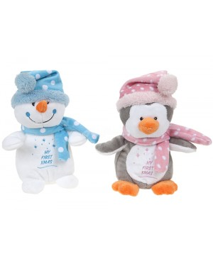 My First Christmas Soft Toy, Pink & Blue B18