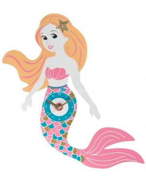 Pink/Blue mermaid clock wall decor - B48