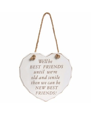 Best friends heart plaque wall decor - B48