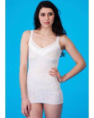 Ladies Premier Quality 100% Cotton French Neck Spencer Vests by Flamingo - B30
