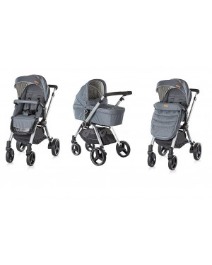Chipolino Baby Stroller and Carry Cot , push chair with carry cot - Mika Graphite