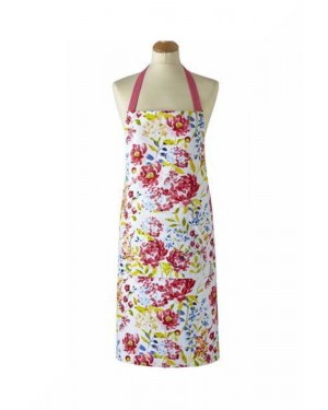 Floral Romance Design 100% Cotton Apron with Front Pocket by Cooksmart B31
