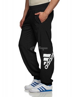 Adidas Performance Mens Logo Jogging Bottoms Black, Size- XXL