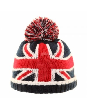 Babies Novelty Union Jack & USA Beanie Bobble Hats by Jiglz , UNION JACK