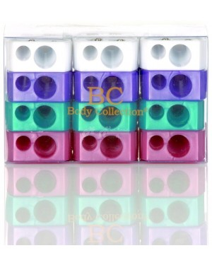 Body Collection Pencil Sharpeners 4 assorted colour - B46