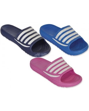 "Children's Pool Beach ""Super Value"" Slider Flip Flops UK 13-5 -blue-3 UK(EU35)"