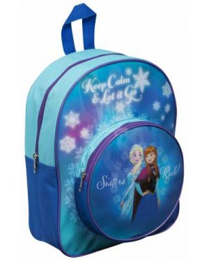 "Official Disney ""Frozen"" Character Junior School Backpack with Extra Front Pocket"