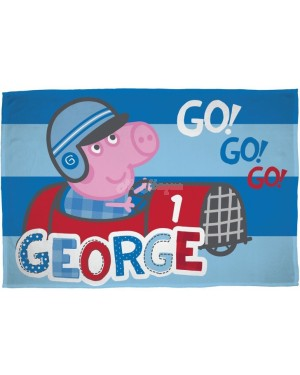 "Official George Pig ""Speed"" Character Fleece Blanket Snuggle Throw B30"