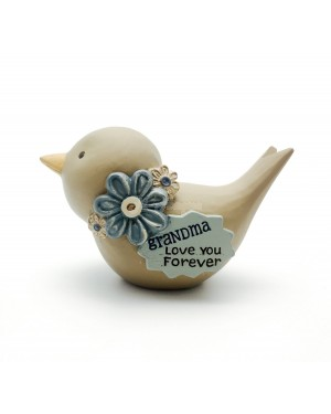 Grandma Love You Bird Decoration 8cm figurine