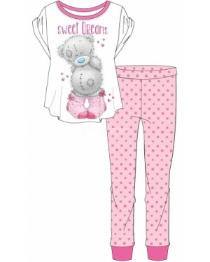 Ladies Official Me To You Tatty Teddy S/Sleeve Top & Cuffed Lounge Pant Pyjama Set B49