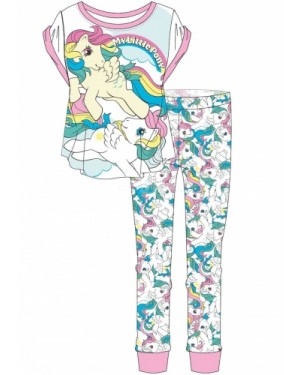 "Ladies Official ""My Little Pony"" S/Sleeve Top & Cuffed Lounge Pant Pyjama Set B30-UK16-18"
