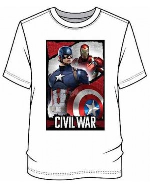 "Men's Official Marvel Comics ""Captain America Civil War"" Character T Shirt"