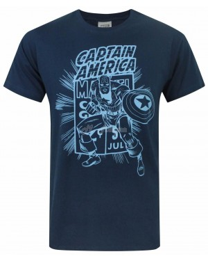 "Men's Official Marvel ""Captain America"" Character T Shirts B26"