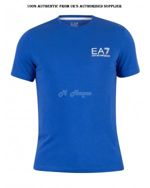 Men's EA7 Logo short sleeve T-Shirt, ROYAL BLUE