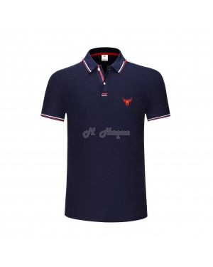 New UK's Branded MHaque Men's short sleeve polo shirt-Navy-Medium