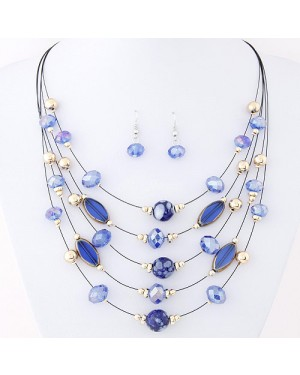 Alloy Imitated Crystal Necklace - Brand new.
