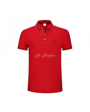 New UK's Branded MHaque Men's short sleeve polo shirt-Red-Medium