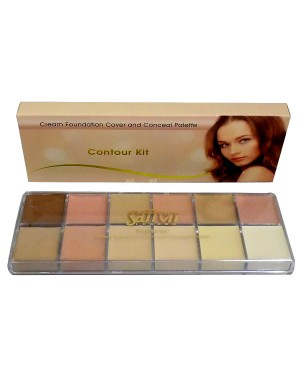Saffron Cream Foundation Cover and Conceal Palette Contour Kit B45