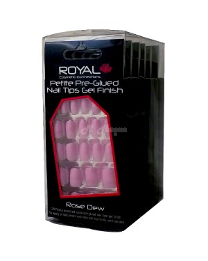 Royal Petite Pre-Glued Nail Tips (NNAI143) Rose Dew B46