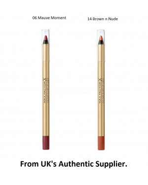 Max Factor Colour Elixir Lip Liner Brand new & Authentic in 2 colours-14 Brown n Nude