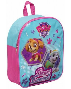 "PWP1-8039 Official PAW Patrol ""Skye & Everest"" Character Junior School Backpack - B29"