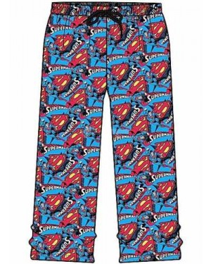 "Men's Official DC Comics ""Superman"" Character Lounge Pants B12,15,16"
