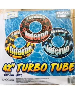 """Huge XXL Tornado Inferno 42"""" Inflatable Turbo Ring Tube with Handles"""