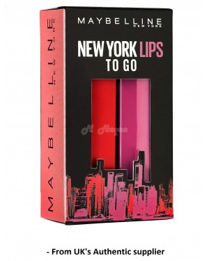Maybelline New York X-Mas Lipstick Set Made For All, 382 Red For Me, 376 Pink For Me, 49 G