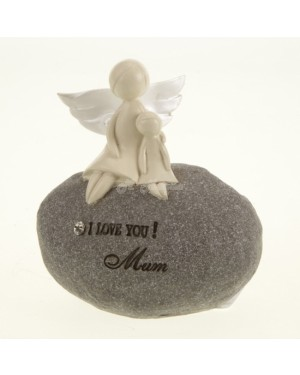 I LOVE YOU MUM ANGEL STONE figurine