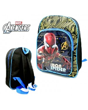 "1023HV-Official Marvel ""Iron Spider"" Character Deluxe Junior School Backpack with Extra Front Pocket B2- Brand new"