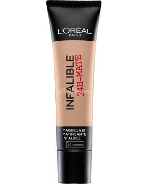 L'Oreal Infallible Mate 24H Foundation 24 Beige Dore - Brand new