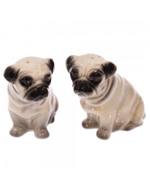 Ceramic Pug Salt & Pepper Set kitchen decor B25