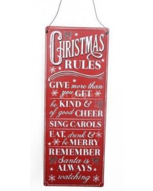 Vintage Christmas Rules Plaque house deocr S2R4C2