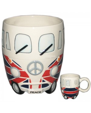 Camper Van Mug - Uk Flag S1R3C3