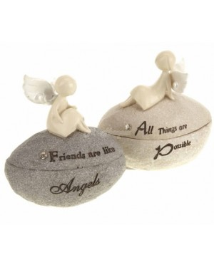 "Angel Trinket Boxes house decor, - ""All things are possible"" S2R3C4"