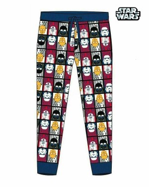Men's Official Star Wars Character Trouser Lounge Pants B11-Medium