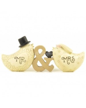 Mr & Mrs Bird Decoration 15cm house decor - B13