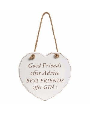 Best friends offer gin plaque wall decor - B48
